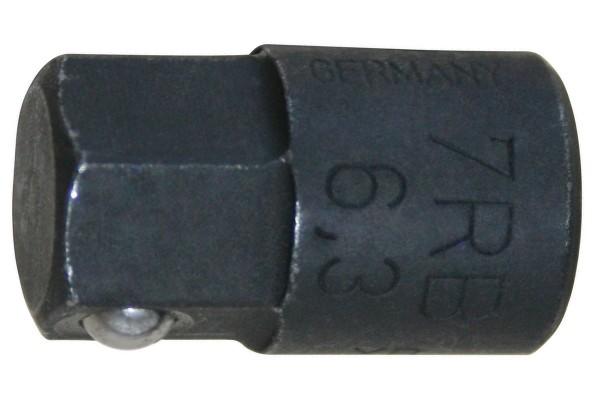 """GEDORE Bit-Adapter 1/4"""" 6kt, 10 mm für 7 R / 7 UR 7 RB-6,3"""