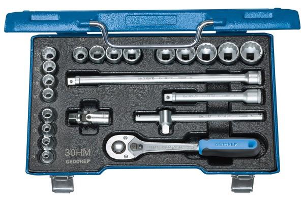 "GEDORE Steckschlüssel-Satz 3/8"" 22-tlg UD-Profil 6-22 mm D 30 HMU-10"