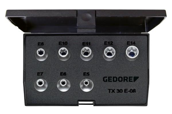 "GEDORE Steckschlüssel-Satz 3/8"" 8-tlg Außen-TORX E5-E14 TX 30 E-08"