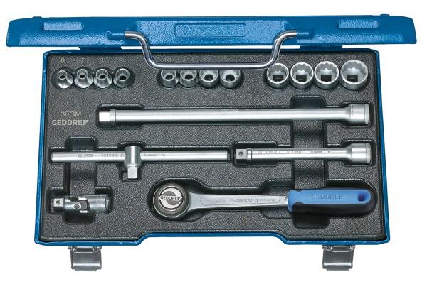 "GEDORE Steckschlüssel-Satz 3/8"" 17-tlg UD-Profil 6-19 mm D 30 GMU-3"