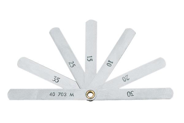 GEDORE Ventil-Fühlerlehre 0,1 - 0,4 mm 703 M