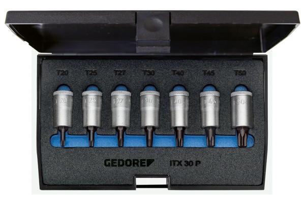 """GEDORE Schraubendreher-Satz 3/8"""" 7-tlg Innen-TORX T20-50 ITX 30 PM"""