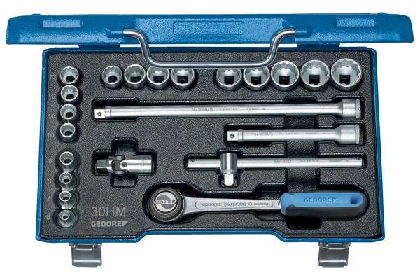 "GEDORE Steckschlüssel-Satz 3/8"" 22-tlg UD-Profil 6-22 mm D 30 HMU-3"